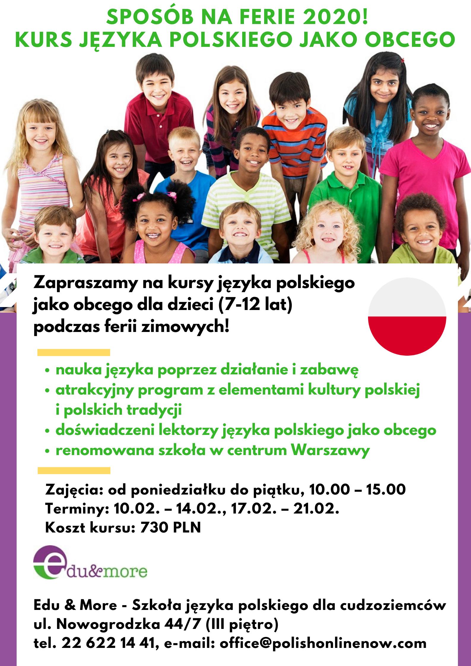 Ferie zimowe z językiem polskim