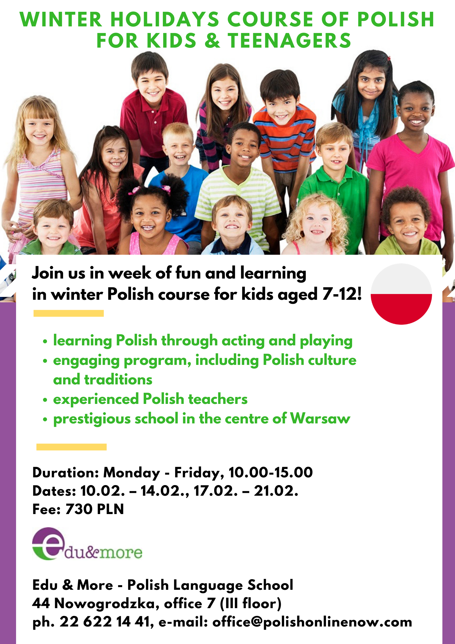 Winter holidays, Polish for kids